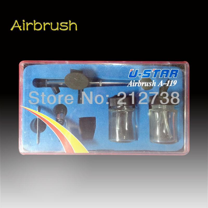 ФОТО Airbrush Pen Gravity Tattoo Spray gun Body Painting Tool Body face art painting U-STAR Airbrush A-119 Free shipping