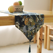 Japonés elegante camino de mesa de lino retro viento restaurante mesa de café decoración bandera de la bandera