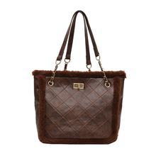 Bags Handbags Women Famous Brands Fashion Ladies Cotton Velvet Plaid Tote Bag Shopping Shoulder Handbag Chain Crossbody Bags gykaeo women shell handbag ladies casual shopping shoulder bags handbags women famous brands high quality tote bag ladies bolsas