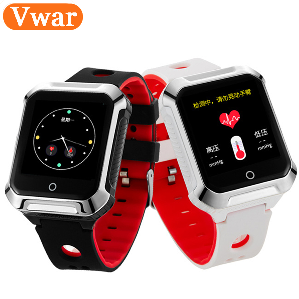 Vwar A3R GPS WIFI Smart Watch Blood Pressure Heart Rate Monitor SOS Safety Call Tracker Anti-Lost for Kids Elderly Old Men Women vjoycar 5000mah big battery portable gps tracker wifi data logger rechargeable removable battery motion sensor sos voice monitor