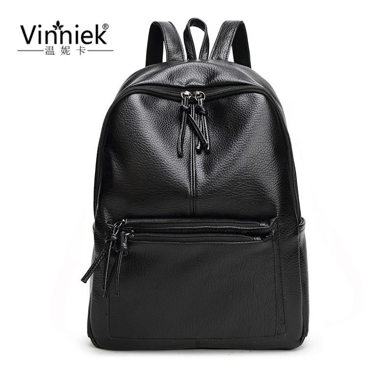 ФОТО Preppy Style Women Backpack Fashion Travel Female School Bags For Teenagers Girl Vintage Laptop Bagpack Embossing PU Leather sac