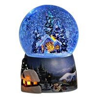 2018 Limited Musik Box Carrossel Free Shipping Snow Music Box Eight Sky City Crystal Ball Birthday Gifts For Girls And Children