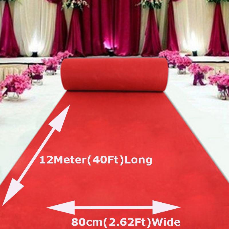 Large 12mx80cm Wedding Red Carpet Birthday Party Hollywood