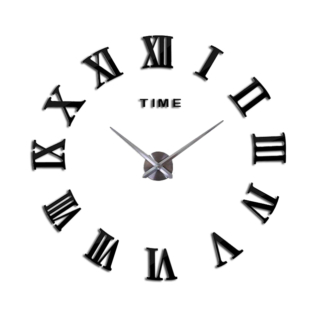 Home Decoration Wall Clock Meetting Room Exquisite Gift Modern Clocks New Black Color Watch