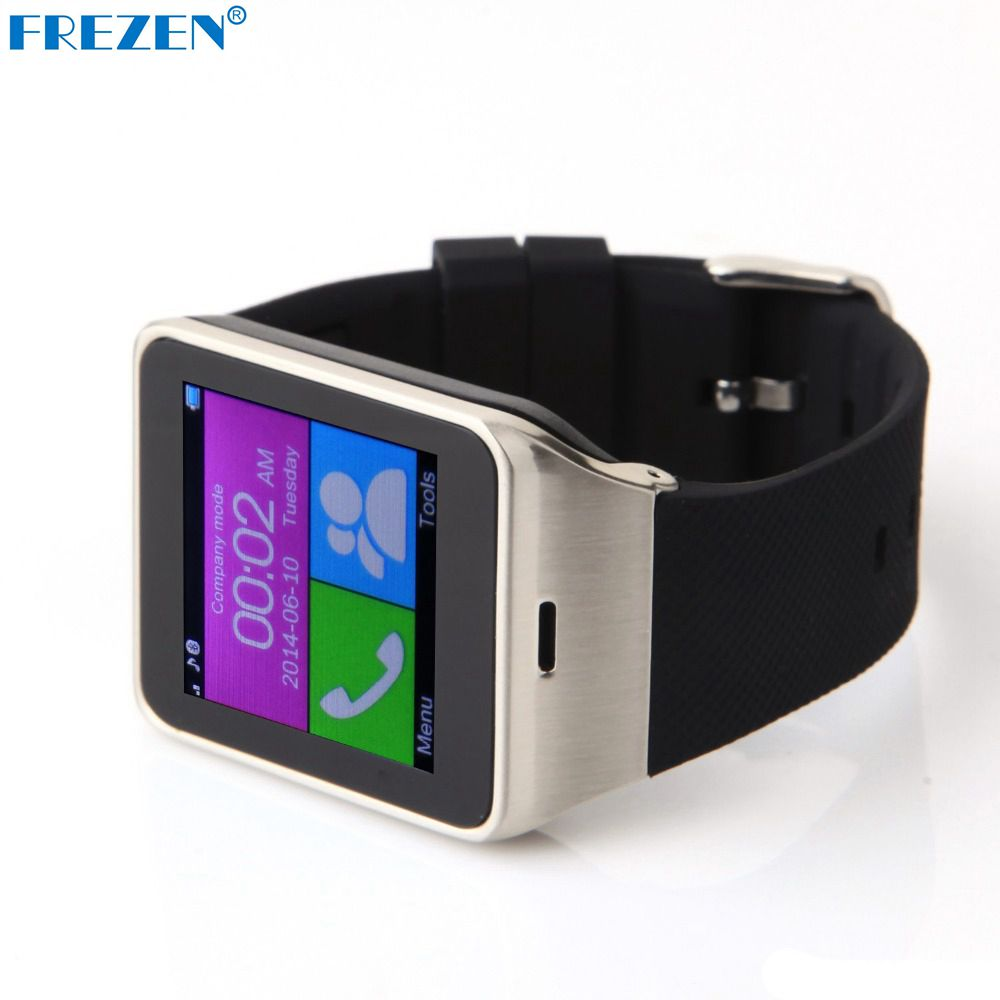 FREZEN GV18D Smart Watch Bluetooth Clock Sync Notifier Sim Card Watches For Android Smartphone Smartwatch