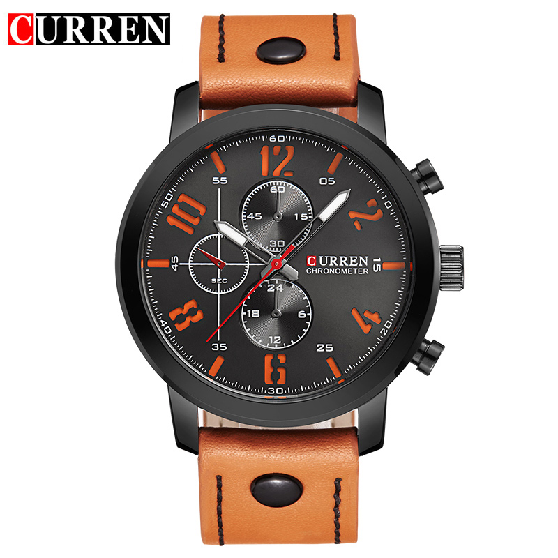 CURREN Luxury Casual Men Watches Analog Military Sports Watch Quartz Male Wristwatches Relogio Masculino Montre Homme 8192