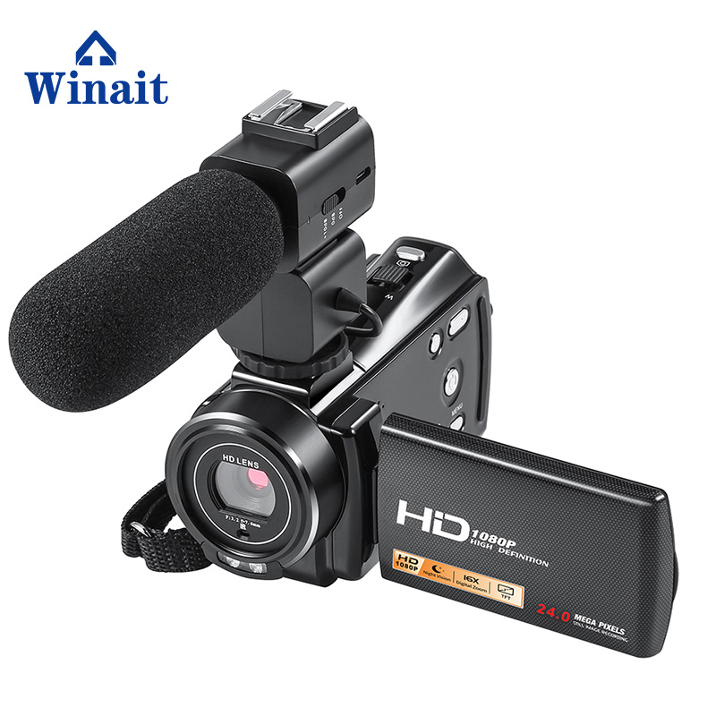 Winait 3.0 TFT Display FHD 1920*1080 Digital Video Camera Camcorder with 16x Digital Zoom home use video camera free shipping