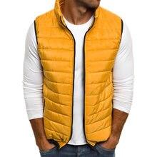 ZOGAA Vogue осеннее пальто для мужчин жилет s парка куртки на молнии  повседневное куртка без рукавов 5d47354eb23
