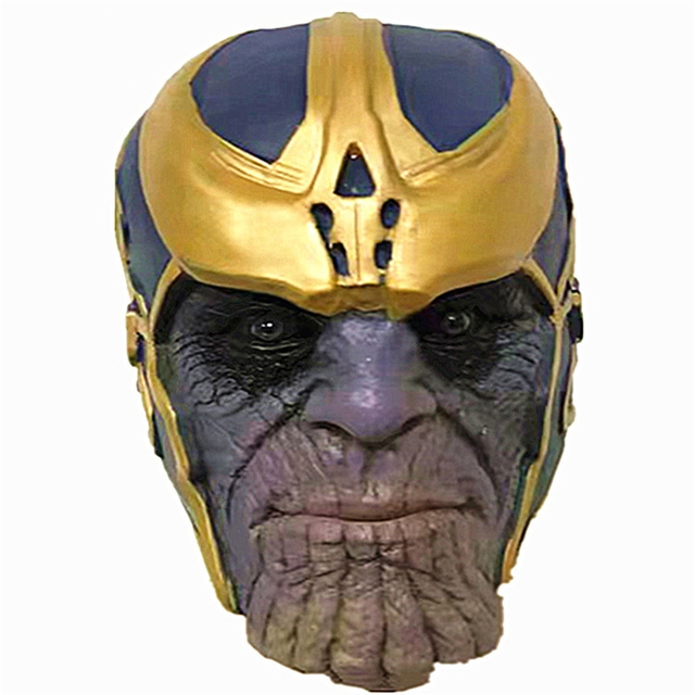 Thanos Marvel Avengers Union Helmet Percussion Mask Gloves Cosplay