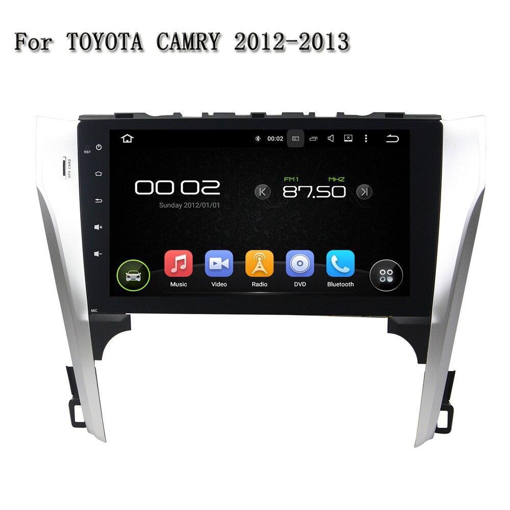 10.1 Сенсорный экран с Высокое разрешение 4 ядра dvd-плеер автомобиля для Toyota Camry 2012-2013 Радио RDS ТВ USB SD ipod