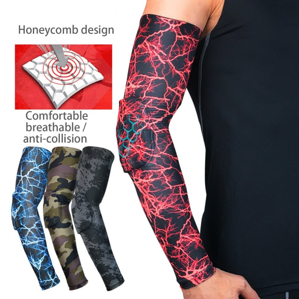 Men Women Comfortable Sport Outdoor Cycling Running Anti-UV Sun Protective Arm Sleeve Basketball Elbow Arm Warmers Cover