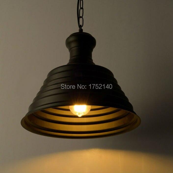 Lámpara colgante de hierro forjado retro de la industria del estilo del desván lámpara creativa de la tapa colgante de la luz de la barra del café iluminación de la ingeniería art decó - 2
