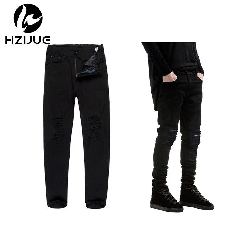 Online Get Cheap Super Skinny Jeans for Men Black Ripped ...