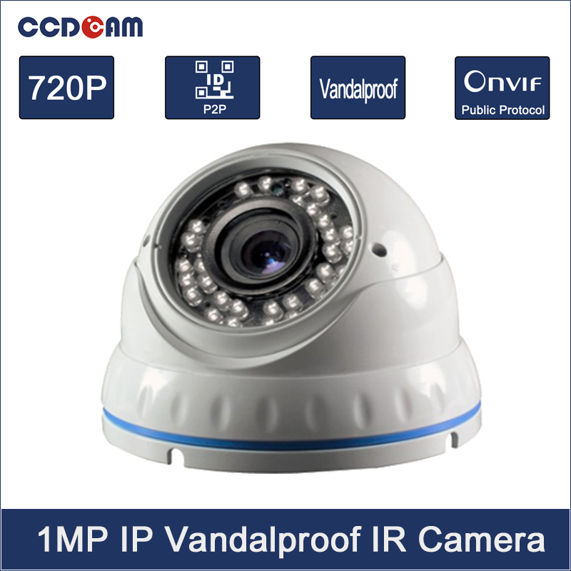 CCDCAM Onvif H.264 1MP SONY Sensor HD 720P camera with IR-Cut 3.6mm Lens Dome Camera Security IP Camera 120m 150m 200m h 264 hdmi over tcp ip extender with 20 60 khz ir