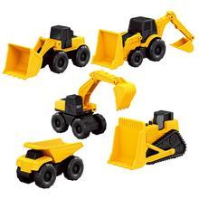 5PCS/Set Mini Simulation Small Caterpillar Engineering Vehicle Construction Toy Set Excavator Bulldozer Dump Truck Wheel Loader