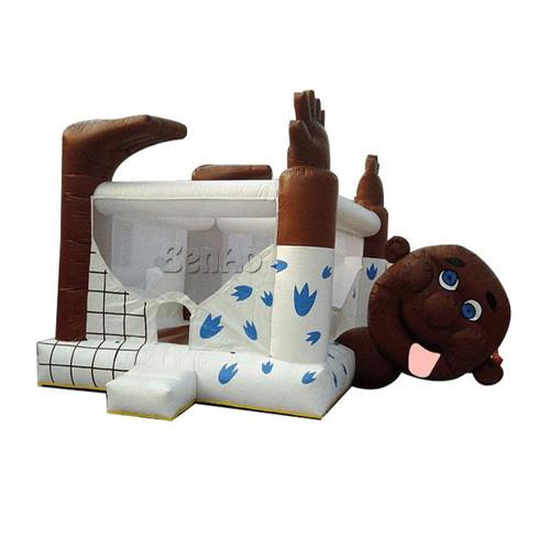 U118 Frete grátis + ventilador Palhaço Bouncer Inflável Jumper Moonwalk Inflável Gigante/indoor Gigante cão brinquedo inflável bouncer