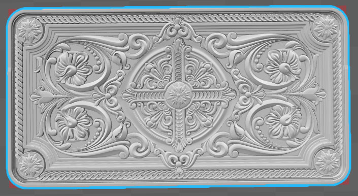 Digital File STL Format File For CNC 3D Relief Carving Engraving Can Input Artcam Mastercam Type 3 Decor 2019-1