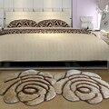 Новый модный ковер в форме цветов  европейские 3D ковры с двойной розой для украшения гостиной  спальни  нежный персональный мягкий коврик
