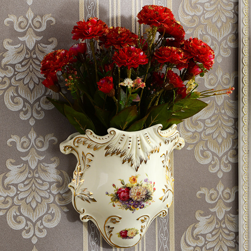 Ceramic Wall Flower Decor: Yolife Vintage Ceramic Wall Vase Flower Hanging Vase