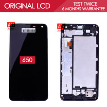 100% Tested Original 5.0 inch Black 1280×720 Display For NOKIA Lumia 650 LCD Touch Screen with Frame Digitizer Assembly