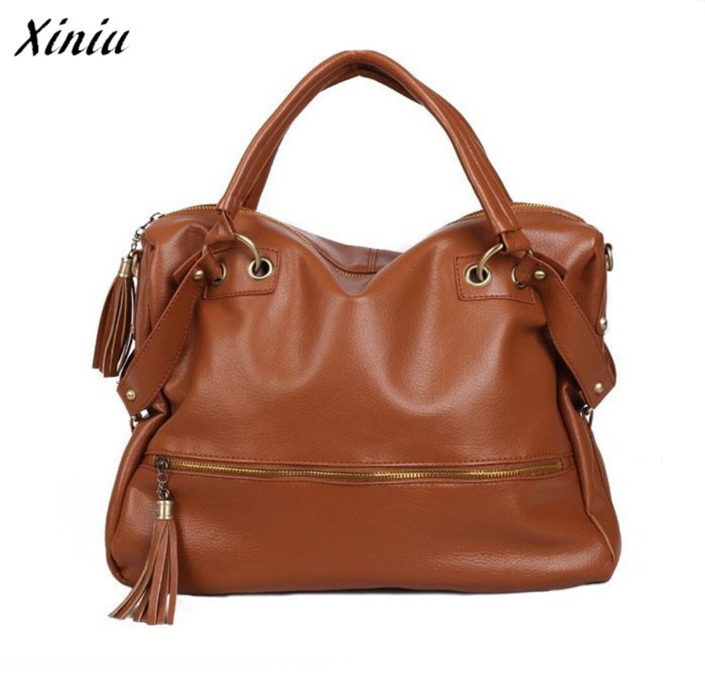 Xiniu 2017 new handbag Women Lady PU Leather Hobo Style Hbag Shoulder Bag with Strap women Messenger bags #0