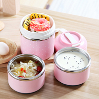Thermal Thermos Lunch Box Japanese Stainless Steel Bento Box For Food Soup Container Storage Portable Picnic