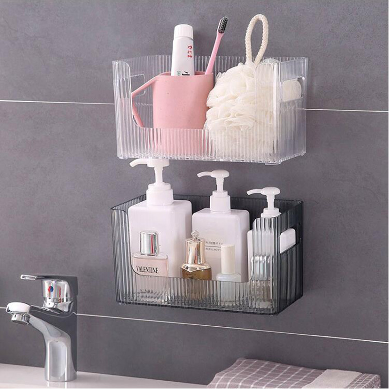 050 Fashion Bathroom Kitchen Door Wall Hanging Organizer Storage Rack Holder Powerful traceless rack 23 12 12 5cm in Storage Shelves Racks from Home Garden