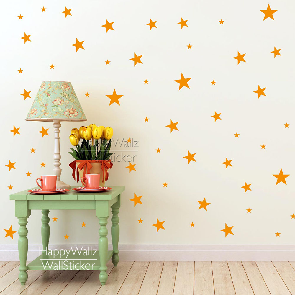 Wall stickers decoration for kids - Aliexpress Com Buy Stars Wall Stickers Baby Nursery Stars Wall Decals Kids Room Diy Easy Wall Sticker Diy Children Wall Decors 522p From Reliable Children