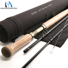 Maximumcatch 12.9FT 8WT Fly Fishing Rod 4 UNIDS Media-Caña De Carbono de Acción Rápida Con Tubo de Cordura