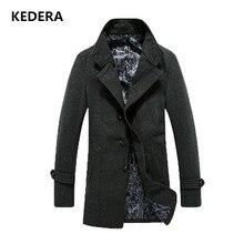2016 Новый Одежда Зимняя Куртка Мужчины Пальто Полушерстяные Длинные Твердые Мужская Мода Повседневная пальто мужчины пальто