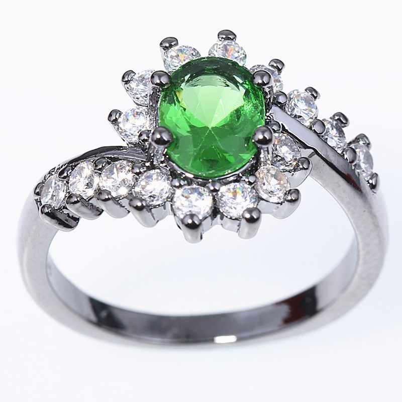 Nuovi anelli di modo per le donne in oro Rosa nero oro 925 argento Zircone anello di Cinque Uomini inviare da cerimonia nuziale delle donne di Cristallo di colore anelli dei monili