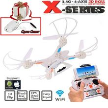 Free Shipping! MJX X400 6-axis Gyro 4CH RC Quadcopter Drone RC Helicopter&C4010 WiFi FPV Camera
