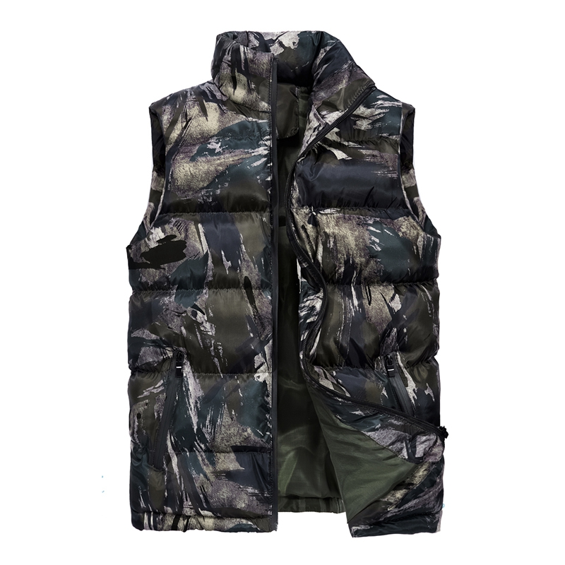 Men\`s Camouflage Vest Winter Sleeveless Casual Outwear Jacket Camo Slim Fit Waistcoat Male Clothing Plus Size M-5XL Chaleco (2)