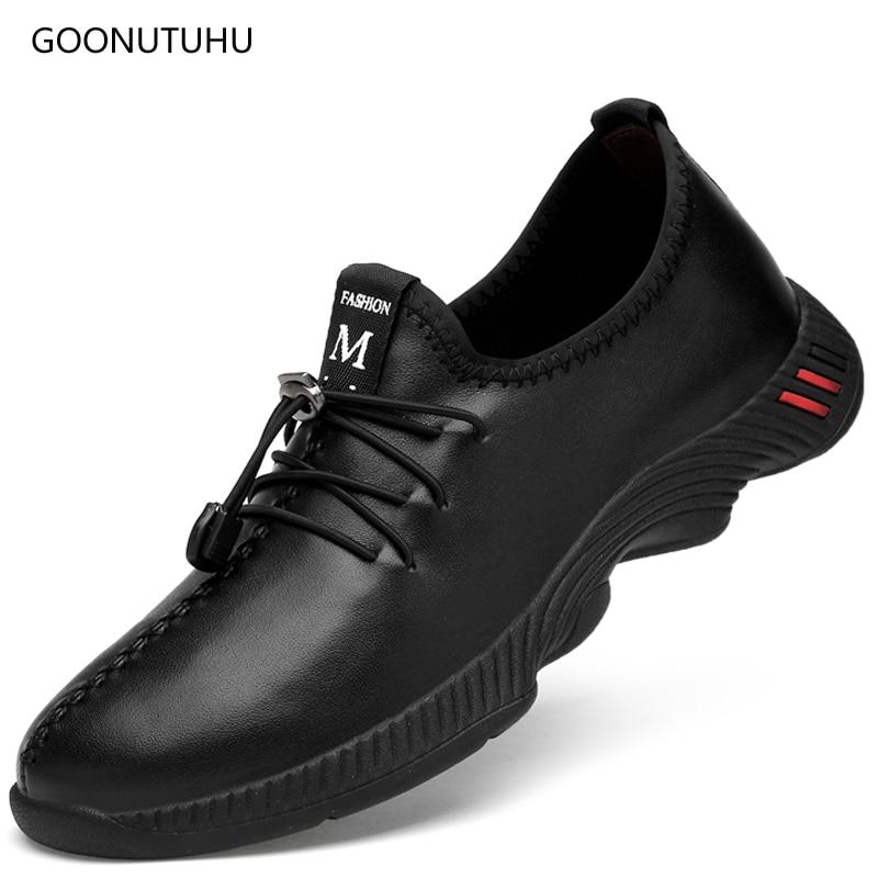 Męskie obuwie z prawdziwej skóry mokasyny oddychające letnie buty - Buty męskie