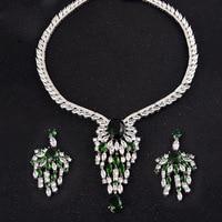 Fashion necklace and earrings set zircon jewlery