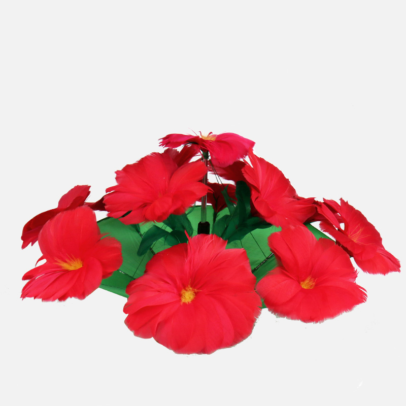 Magic red feather flower/ umbrella to flower/ stage magic tricks magic props free shipping 125khz rfid