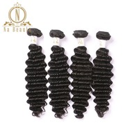 Brazilian Remy Hair Deep Wave 4 Bundles Deal Human Hair Extensions Natural Color Hair Weaving Double Weft Hair Free Shipping