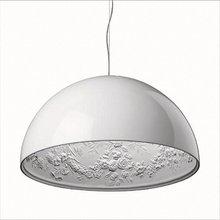 40 / 60 CM Modern Sky Garden luminária Lustre Lustre branco / preto suspensão luminárias para sala de jantar