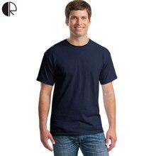 Bavlněné kvalitní tričko pro muže – jendobarevné