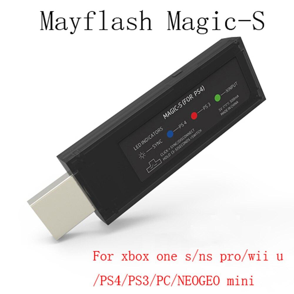 10 pièces Mayflash Magique S USB Contrôleur de Jeu Sans Fil Bluetooth Adaptateur pour wii u/Xbox One S/NS Pro/PS4/PS3/PC/N-E-O-G-E-O