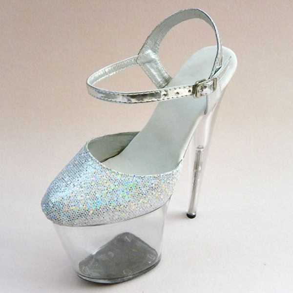 Sexy 20cm Ultra High Heels Crystal Sandals Colorful Glitter Platform The Bride Wedding Shoes 8 Inch Women's Shoes 15cm ultra high heels sandals ruslana korshunova platform crystal shoes the bride wedding shoes