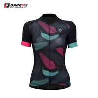 Darevie new feather professional lady cycling jersey breathable laser cutting women cycling jersey bike clothes