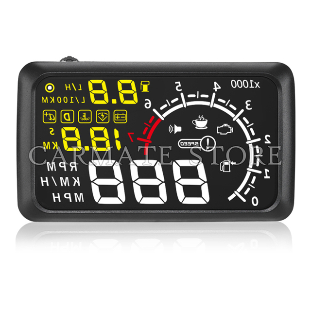 "5.5 ""Car Plug & Play Vehículo HUD Head Up Display Con Bluetooth Función Adecuada Para Los Coches OBD2 y EUOBD"