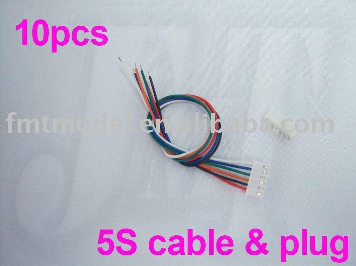 ⊱F00901-10 5S 26AWG Lipo Li-po battery balance charger plug & cable ...