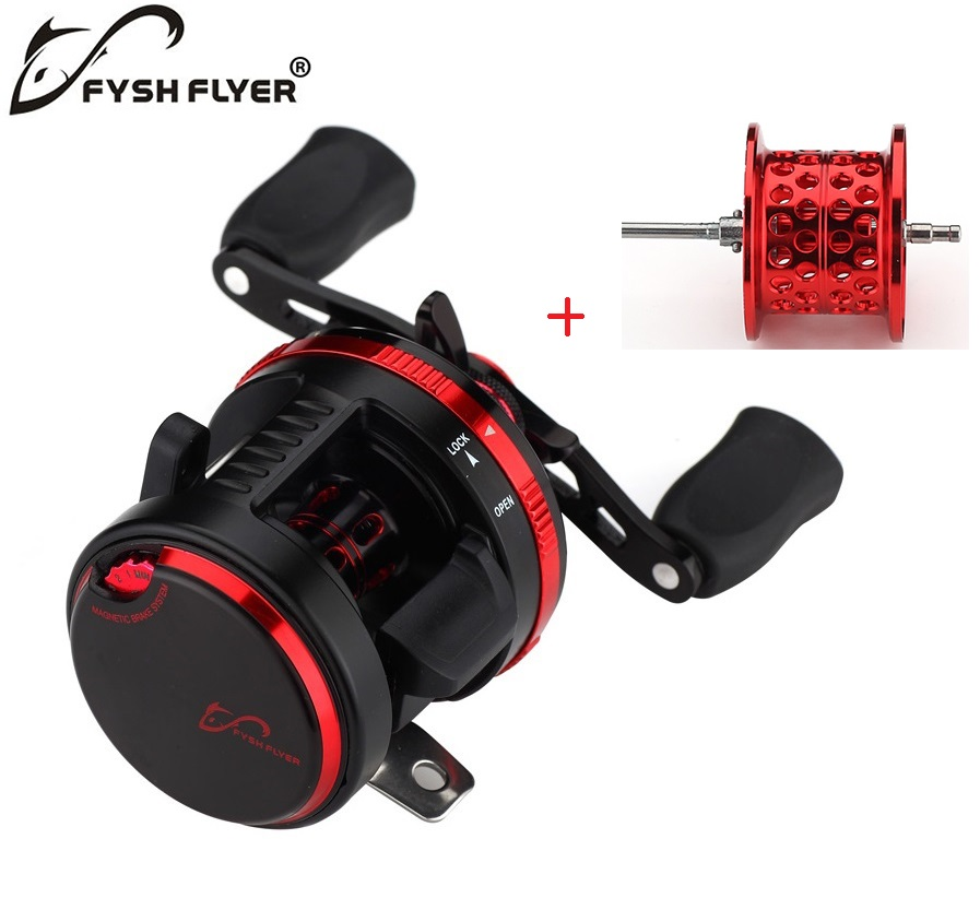 Left-Right Optional Lure Fishing Reel Super Strong Pull Tornado Drum Reel ,10+1 BB,Gift metal spare spool,Casting Drum Type Reel