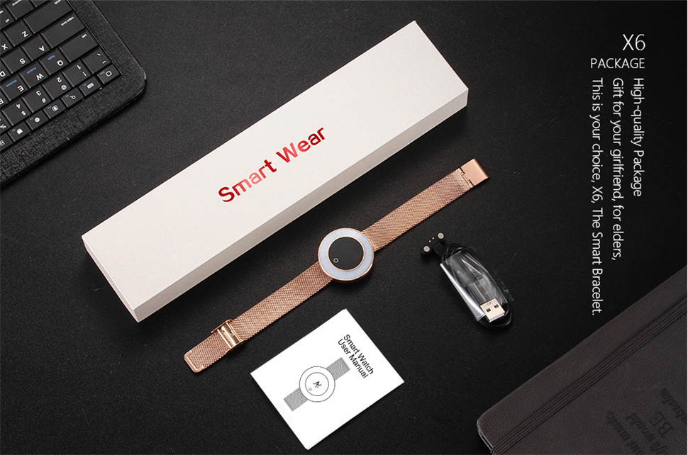 YKSO IP68 Waterproof Smart Bracelet Pedometer X6 Fitness bracelet Sleep Heart Rate Monitor Smart Bracelet (1)