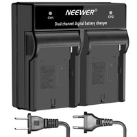 Neewer LED Dual Channel Digital Battery Charger For F550 F750 F730 F960 F960H With US EU
