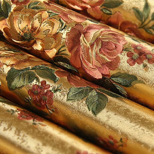 achetez en gros flowery wallpaper en ligne des. Black Bedroom Furniture Sets. Home Design Ideas