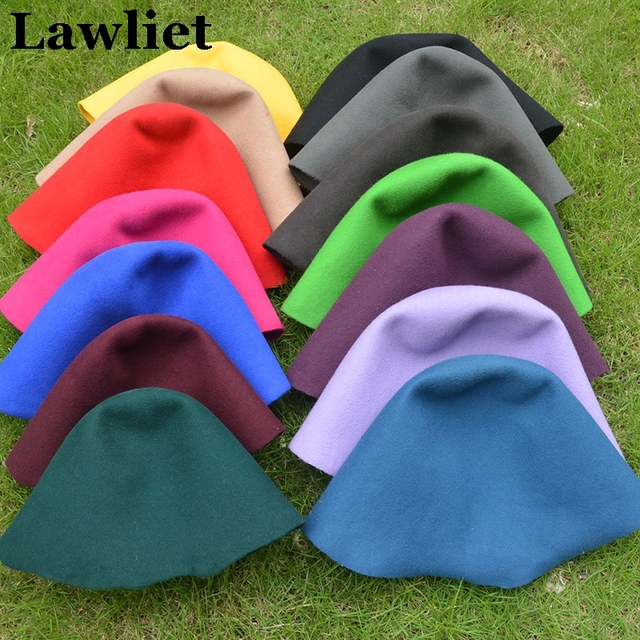 A050 Black  Felt Wool Cone Cloche Hood Millinery Hats Fascinators Block Base