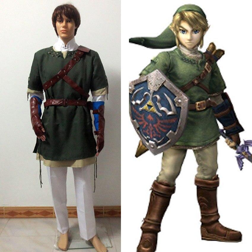 710d809999 ▽Por encargo la leyenda de Zelda Hero enlace Cosplay - a916